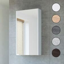 Spiegelschrank Badschrank in anthrazit mit LED-Beleuchtung 90x62x17cm #5674-84