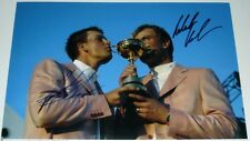 HENRIK STENSON & RONERT KARLSSON GOLF PERSONALLY  SIGNED 12X8 PHOTO RYDER CUP