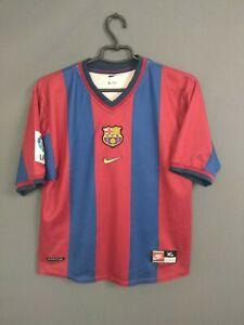 Barcelona Jersey 1998 1999 Home Boys XL Youth Shirt Camiseta Football Nike ig93