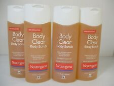 4 Neutrogena Body Clear Body Scrub 8.5 Oz Ea Exp: 5/21+ Jl 12160
