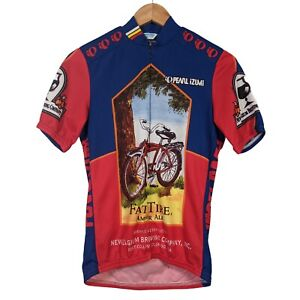 Pearl Izumi Fat Tire Ale Beer Short Sleeve 3/4 Zip Cycling Jersey - Size Small
