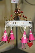 Anhanger Santa Weihnachten Christbaumschmuck Metall Heissluftballon