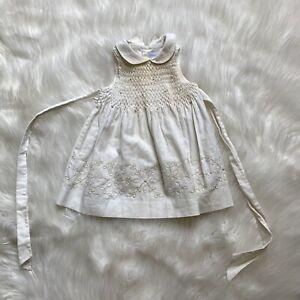 Jacadi Girls Dress Size 6 Months Smocked