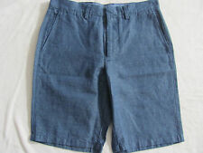 "J.Crew Club 10 1/4"" Inseam Shorts- Blue Stripe -Irish Linen Blend- Size 31- NWT"