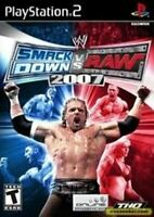 WWE SmackDown Vs Raw 2007 - Authentic Sony Playstation 2 PS2 Game