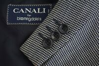 Canali Beige Blue Woven Textured Tweedy 100% Wool Sport Coat Jacket Sz 42R