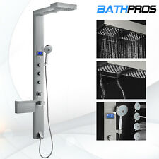"""Massage Bathroom Shower Head Tower Panel Jets Style Stainless Steel 59"""" Spa"""