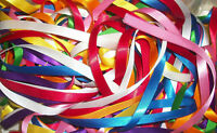 10 metres (10 x 1 m) Assorted Colours of 10mm wide Satin Ribbon Off Cuts Bundle