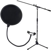 keepdrum MS106 Mikrofonständer Stativ + EMH019 Popschutz 2-lagig