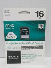 Sony SDHC Memory Card 16 Gb NIB