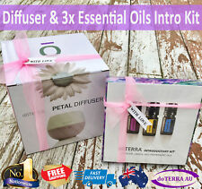 doTERRA Diffuser & Essential Oil Present Gift Set Lemon Lavender Peppermint 5ml