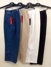 Damen 3/4 Sommer Hosen Jeans 7/8 Schlupfjeans Stretch Caprihose Gr.- 40-54/56