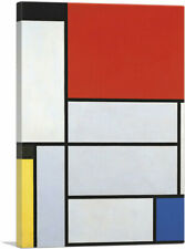"""Composition Red Square Lithograph in Colours 1921 Canvas Art 26""""x18"""" (.75"""" Deep)"""