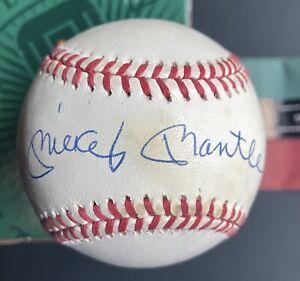 Mickey Mantle Single Signed Baseball UDA Autographed Ball Upper Deck Cert Box