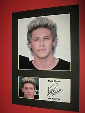 NIALL HORAN ONE DIRECTION 1D A4 MOUNT SIGNED REPRINT AUTOGRAPHS HARRY STYLES