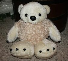 "NEW Plush BESTEVER Penny Arcade Cream Chubby Big Paw Claw Bear 15"" Lovey NWOT G2"