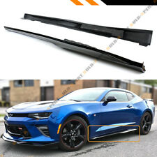 For 2016-2019 Chevy Camaro LT SS RS Gloss Black ZL1 Style Side Skirt Extension