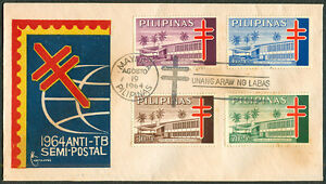 1964 Philippines ANTI-TB SEMI-POSTAL First Day Cover - A