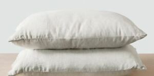 The CITIZENRY 3 Sand Stripe Stone Washed King Pillowcases