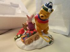 Nice Vintage With The Box Winnie The Pooh And Piglet Christmas Tealight Holder