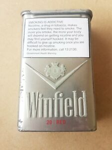 Vintage WINFIELD Red cigarettes Aluminium case / Packet Holder tobacciana.