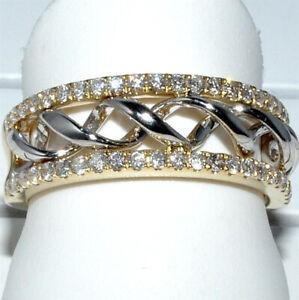 Bague Dorée Plaqué Or Argent 925 Strass Style Diamant Design Tendance Neuve FR
