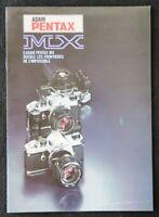Catalogue appareil photo PENTAX MX ASAHI catalog Katalog