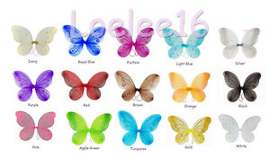 """5 pcs 22""""x15"""" Fairy Wings Butterfly TinkerBell Pixie Dress Up Costume"""