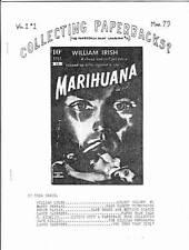 COLLECTING PAPERBACKS Vol. 1 #1 - 1979 fanzine - William Burroughs JUNKIE