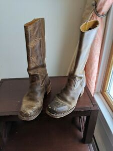 Vintage Frye Womens Hippie Boots Size 8 recently resoled insoles replaced brown