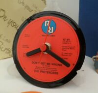 *new* THE PRETENDERS VINYL RECORD CLOCK - Desk / Table Top + Display Stand Gift