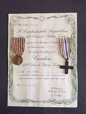 Vittorio Veneto Diploma Di Cavalier