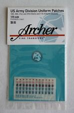 Archer 1/35 US 10.,30.,31.,37. Infantry & 11th Airborne Division Patches FG35025