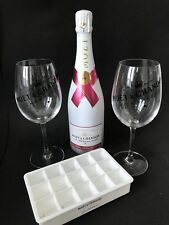 Moet Chandon Ice Imperial Rose 0,75l 12% Vol+ 2 Glas Gläser+ Eiswürfelform