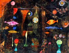 Fish Magic by Paul Klee A1+ High Quality Canvas Print