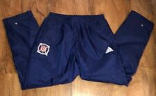 Men's NYLON Adidas Chicago Fire MLS SWEATPANTS SWEATS SIZE LARGE NICE!
