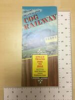 Vintage Travel Brochure Mount Washington Cog Railway Steam Trains 1866 to 1980