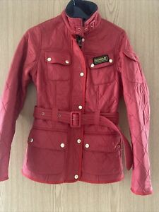 Womens Red Barbour Jacket Worn Twice Excellent Condition Uk Size 8