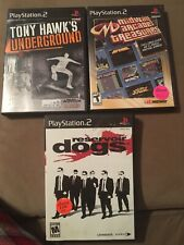 Reservoir Dogs Ps2 Game Lot Tony Hawk Underground Midway Arcade Treasures Tested
