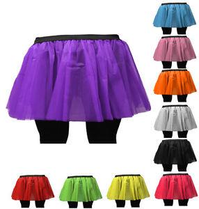 NEON UV TUTU SKIRT FOR 80s HEN FLO FANCY DRESS HALLOWEEN PARTY SIZE 8-14 & 16-26