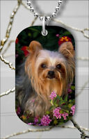 DOG YORKSHIRE TERRIER DOG TAG NECKLACE PENDANT FREE CHAIN -c23r