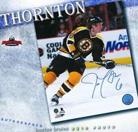 JOE THORNTON Signed Boston Bruins 8 x 10 Photo - 70388 San Jose Sharks