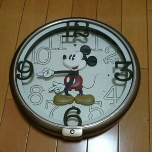 SEIKO Disney Mickey Mouse Wall Clock Disney time FW576B Brown Metallic analog