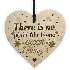 Nanny Nan Christmas Birthday Gifts Hanging Wooden Heart Sign Xmas Home Keepsake