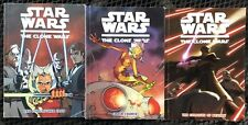 Lot of 3 Star Wars The Clone Wars: Destiny, Crash, Starcrusher VGC Paperback