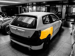 Rear flares fenders LION'S KIT +50mm for Honda Civic Type R EP3 S1, S2 01-05