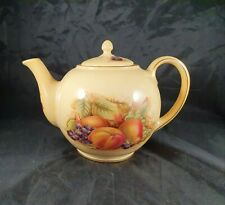 More details for rare aynsley orchard gold teapot fine bone china tea for two pot