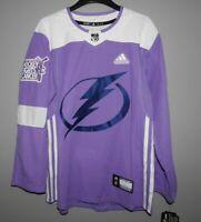 Authentic Adidas NHL Tampa Bay Lightning Hockey Fights Cancer Hockey Jersey Mens