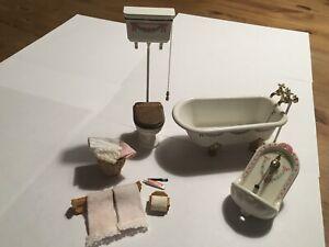 Dolls House Bodo Hennig Metal Bathroom Set.