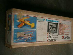 "VINTAGE GREAT PLANES SUPER AEROMASTER 52"" R/C BIPE BALSA MODEL AIRPLANE KIT"